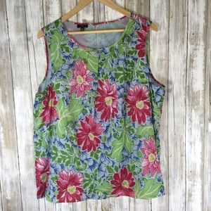 Talbots Floral Sleeveless Blouse